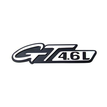 1996-1998 Ford Mustang 4.6L GT Fender Emblem in Chrome & Black, Brand new reproduction; sold individually By Yates Performance - Ford Probe Gt Engine