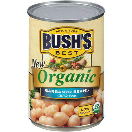 (6 Pack) Bush's Best Organic Garbanzo Beans, 15 (Best Canned Food For Humans)