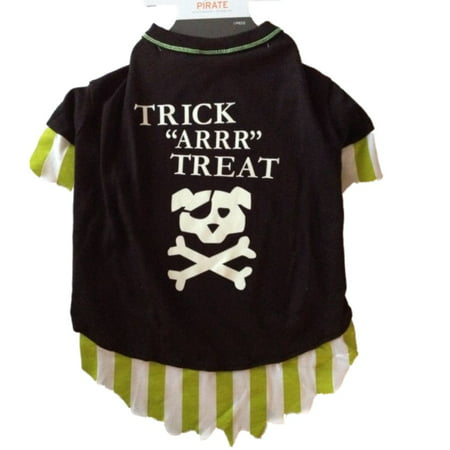 Pirate Dog Costume Trick Arrr Treat Pet Tee Halloween T-Shirt - Dog Pirate Costumes