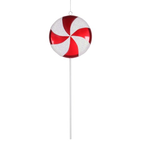 4ct red and white peppermint twist candy lollipop christmas ornament decorations 17 - Lollipop Christmas Decorations