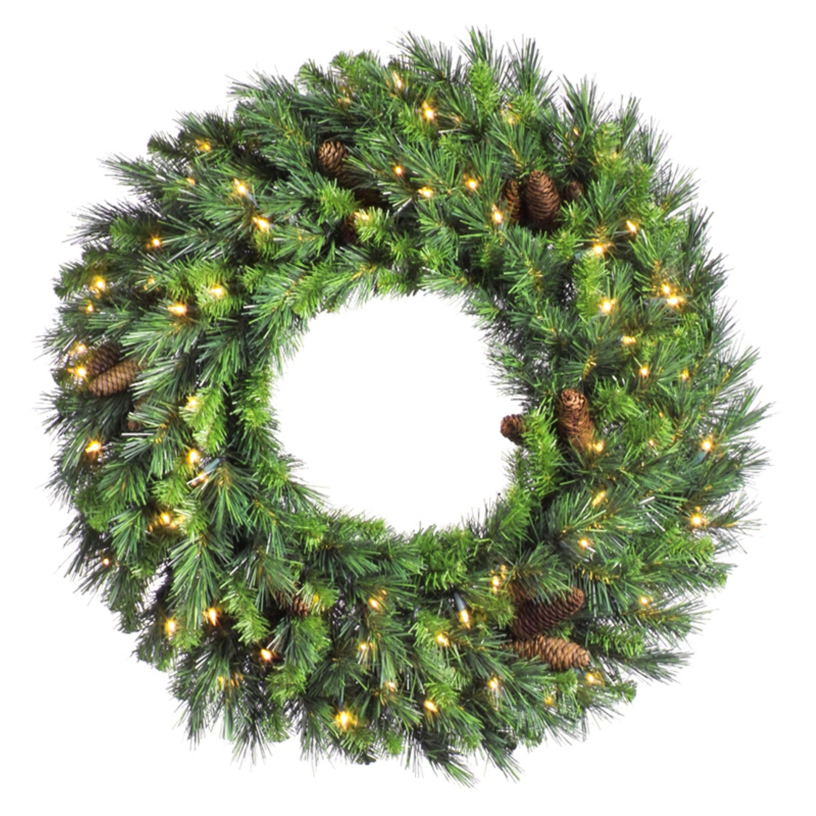 "Vickerman 36"" Cheyenne Wreath 20 Cones 340T"