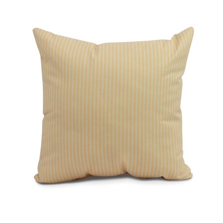 Simply Daisy, 20 x 20 inch, Ticking Stripe Outdoor Pillow, Yellow ()