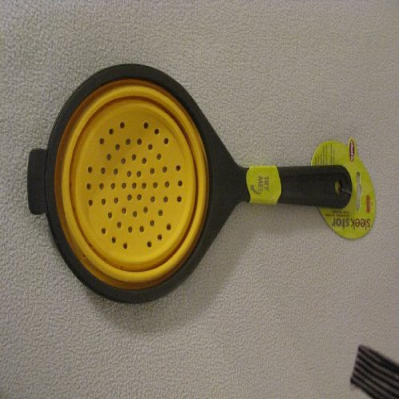 Chef'n Sleekstor Collapsible Silicone Scoop Colander, Yellow