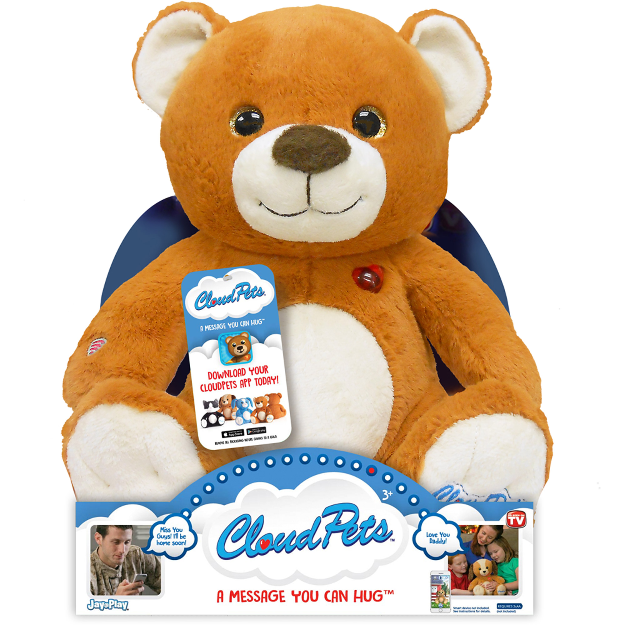 "As Seen on TV Cloud Pets 12"" Bear"