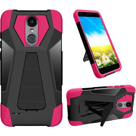 Phone Case for LG Fortune 2, LG Risio 3, LG K8 2018, LG Zone 4 (Verizon),  LG Tribute Dynasty, LG Aristo 2 Plus, Hybrid Cover Case with Kickstand +
