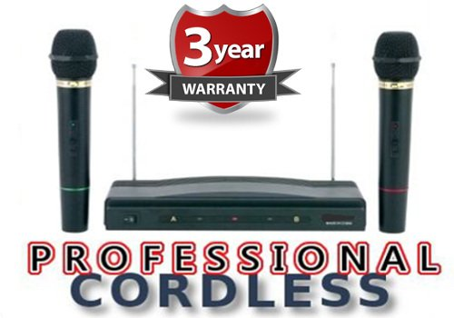 RoyalFX Dual Handheld Wireless Microphone Kit with Wireless FM Receiver (Extended Signal... by