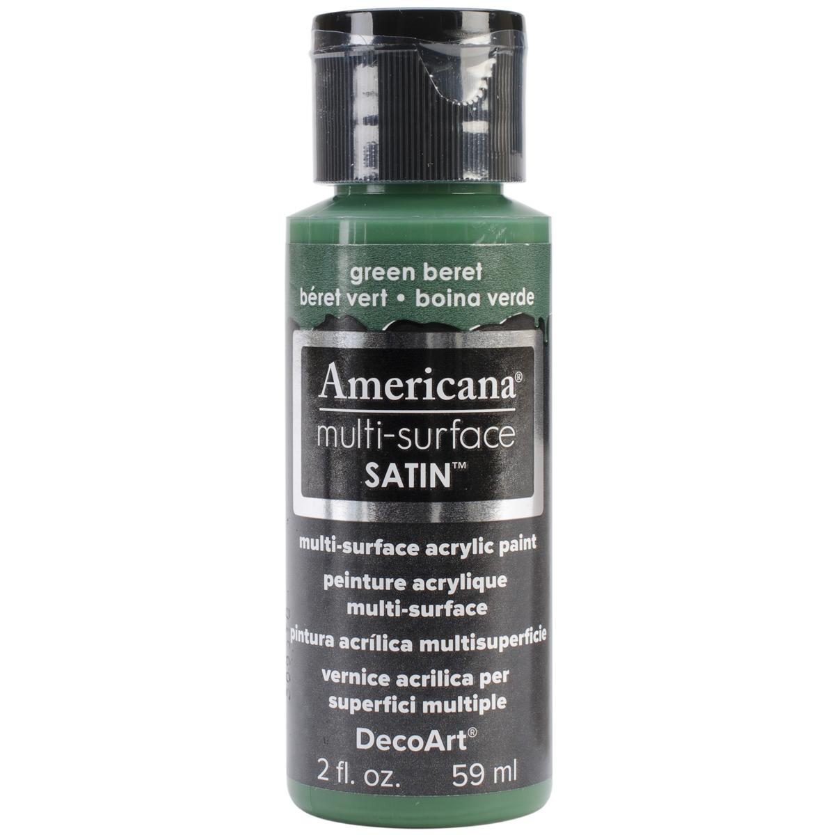 Americana Multi-Surface Satin Acrylic Paint 2oz-Green Beret