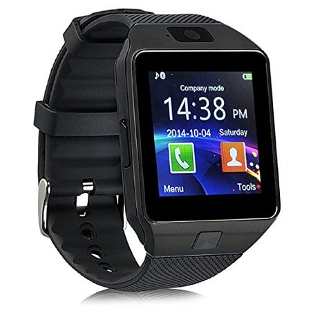 (V-200) Premium Black Bluetooth Smart Wrist Watch Phone mate Touch Screen with