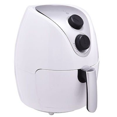 1500W Electric Air Fryer Cooker with Rapid Air Circulation System Low Fat White