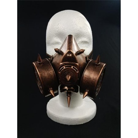 Kayso GSM001BR Spiked Steampunk Gas Mask, - Steampunk Half Mask