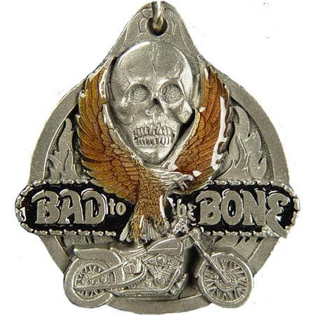 Bad To The Bone Enamel Keychain
