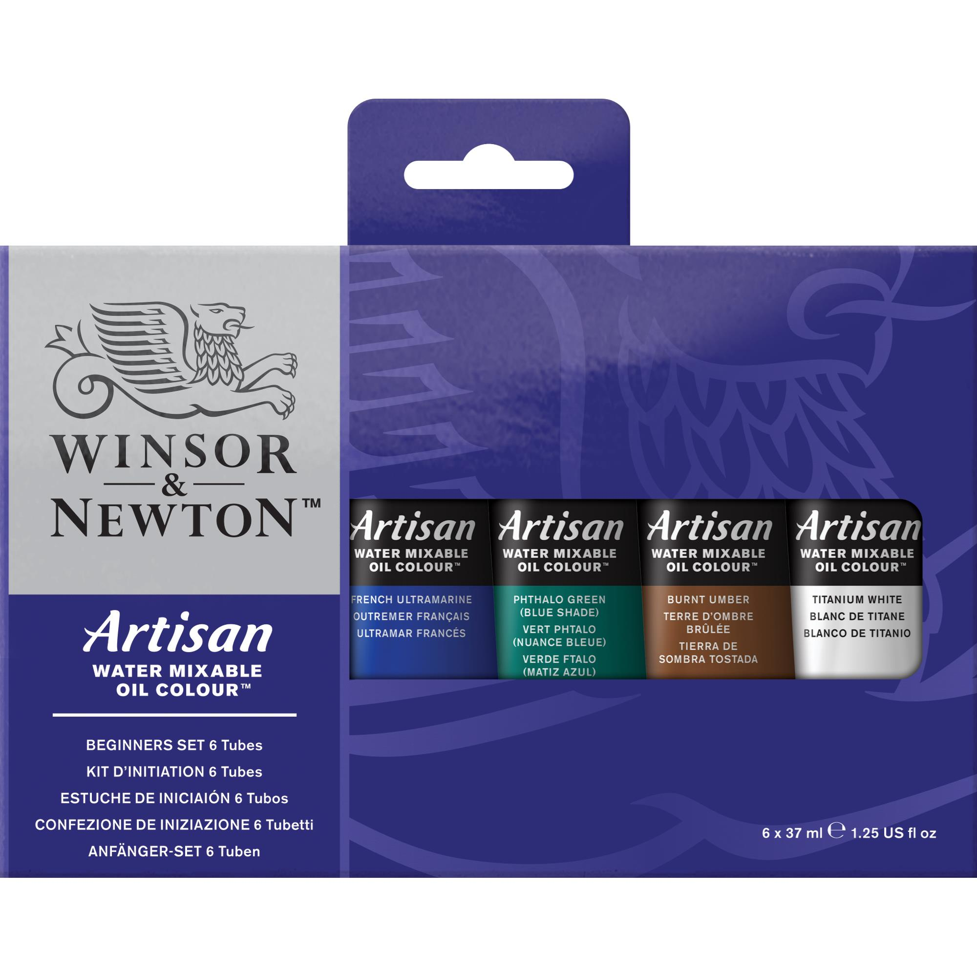 Winsor & Newton Artisan Water Mixable Oil Colour 37ml 6-Tube Beginner Set