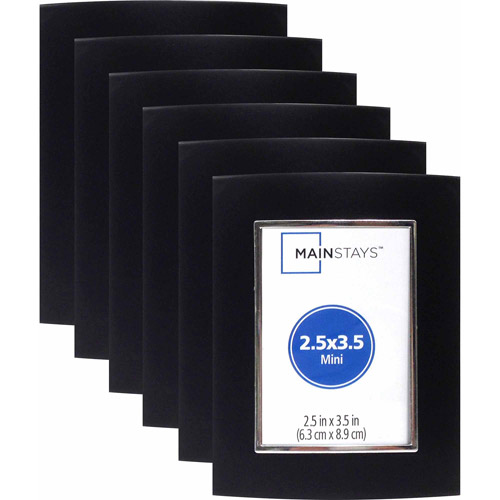 "2.5"" x 3.5"" Metro Light Black Mini Frame, Set of 6"