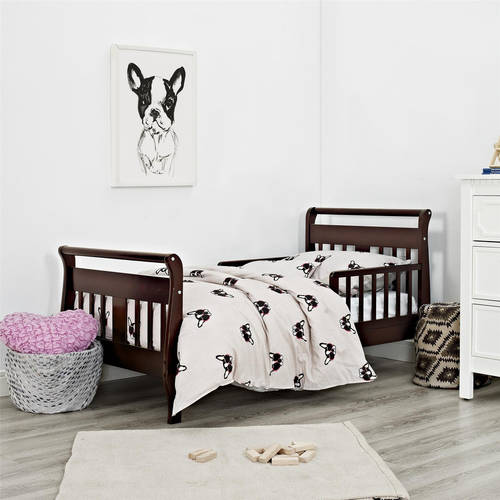 Baby Relax Sleigh Toddler Bed, Multiple Finishes, With Bed Rails