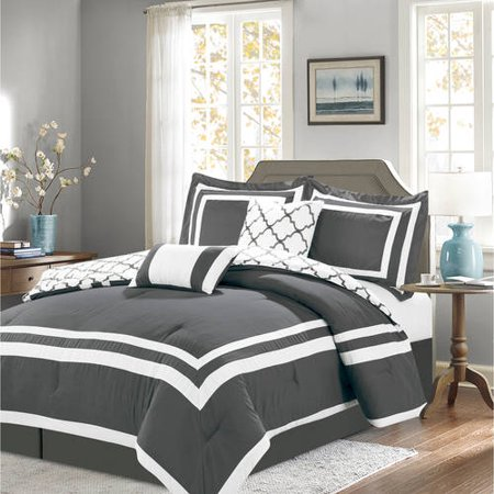 Shelton 7-Piece Reversible Solid Comforter Set - Linden 12 Piece