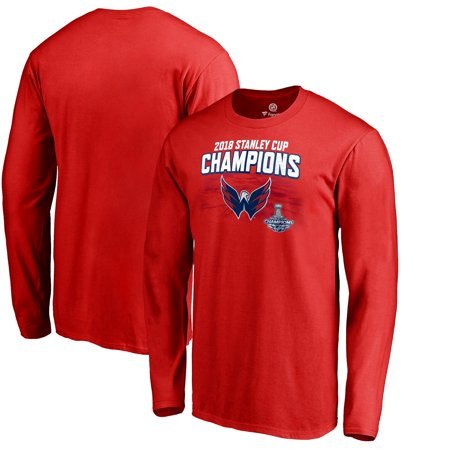 Washington Capitals Fanatics Branded 2018 Stanley Cup Champions Stack the Pads Long Sleeve T-Shirt - Red](Washington Capitals Halloween)