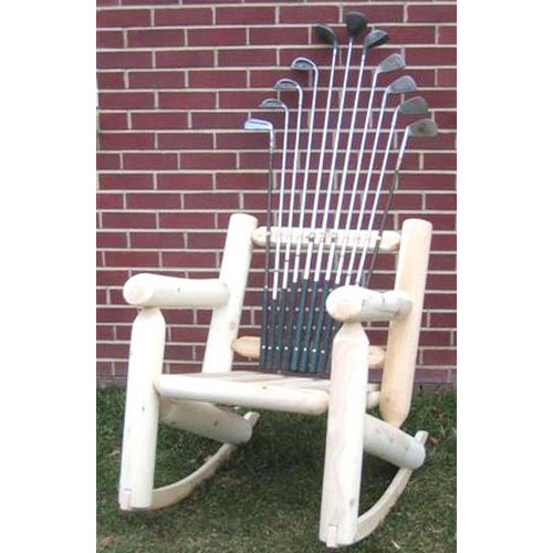 Ski Chair Golf Club Wood Rocking Adirondack Chair