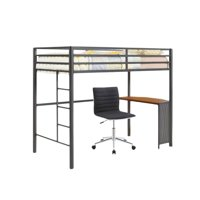 2 Piece Dorm Bedroom Set with Task Chair and Loft Bed