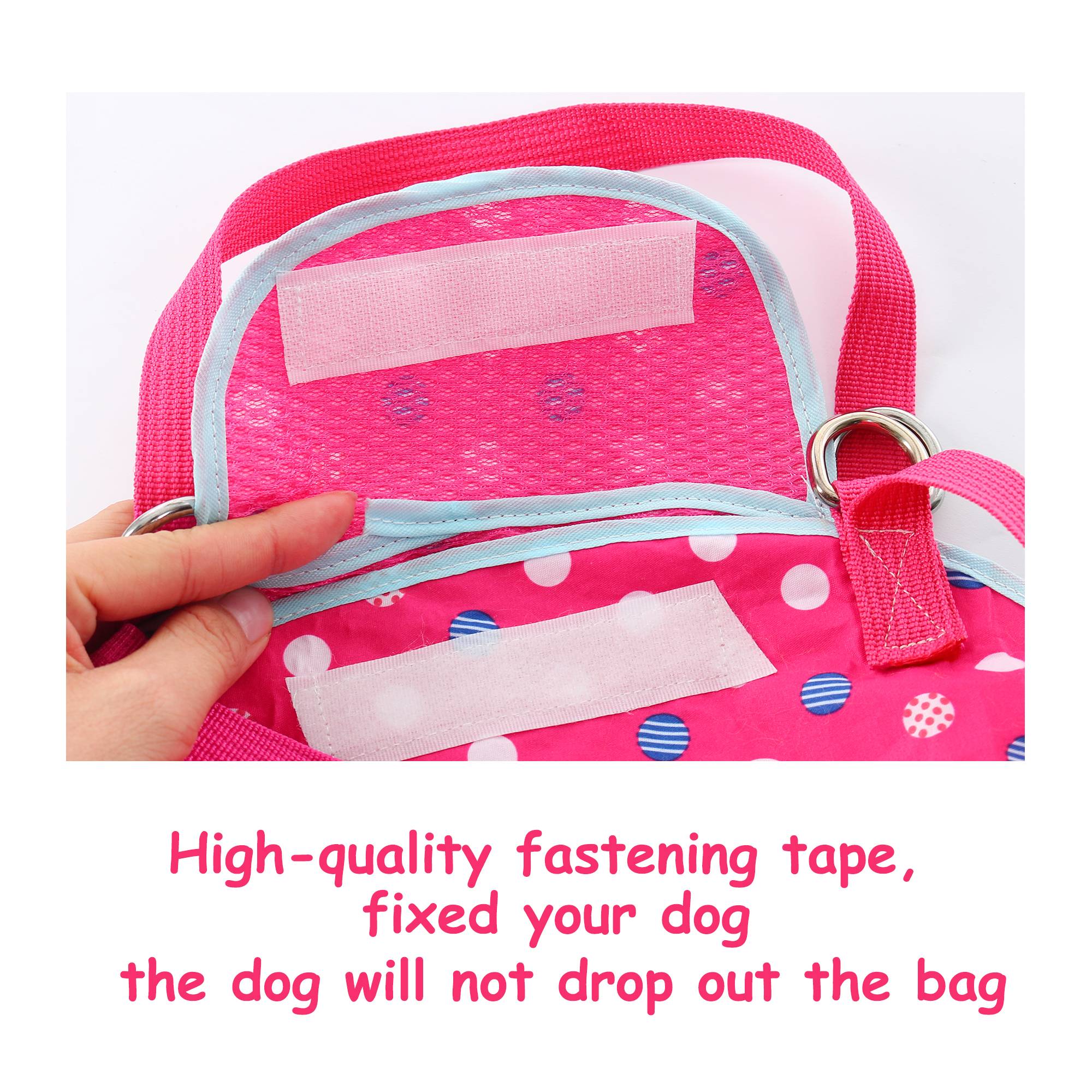 Pet Carrier Backpack, Puppy Holder, Pouch Single Shoulder Carry Tote L Fuchsia - image 1 of 7