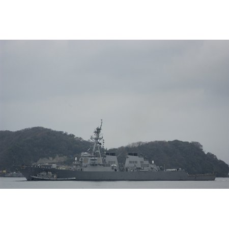 Laminated Poster The Arleigh Burke Class Guided Missile Destroyer Uss John S  Mccain  Ddg 56  Returns To Her Forward Poster Print 24 X 36