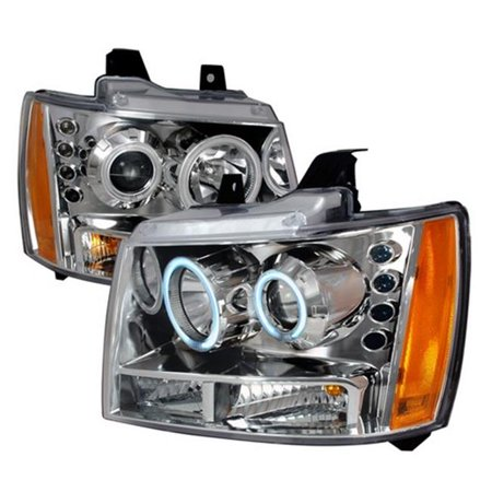 Spec-D Tuning 4LHP-AVA07-KS CCFL Halo Projector Headlights for 07 to 09 Chevrolet Avalanche, 22 x 22 x 19 in. - Chrome ()