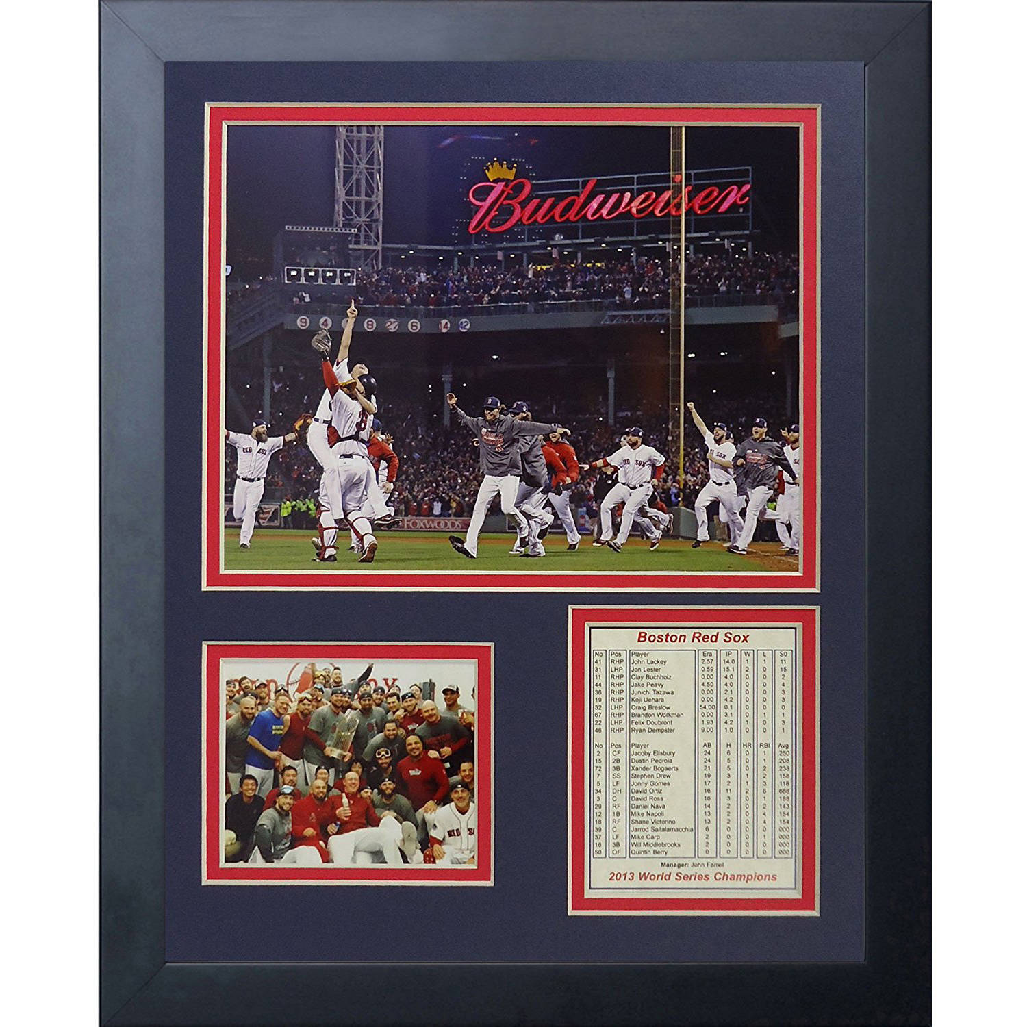 """Legends Never Die 2013 Red Sox World Series Champions Run Framed Photo Collage, 11"""" x 14"""""""
