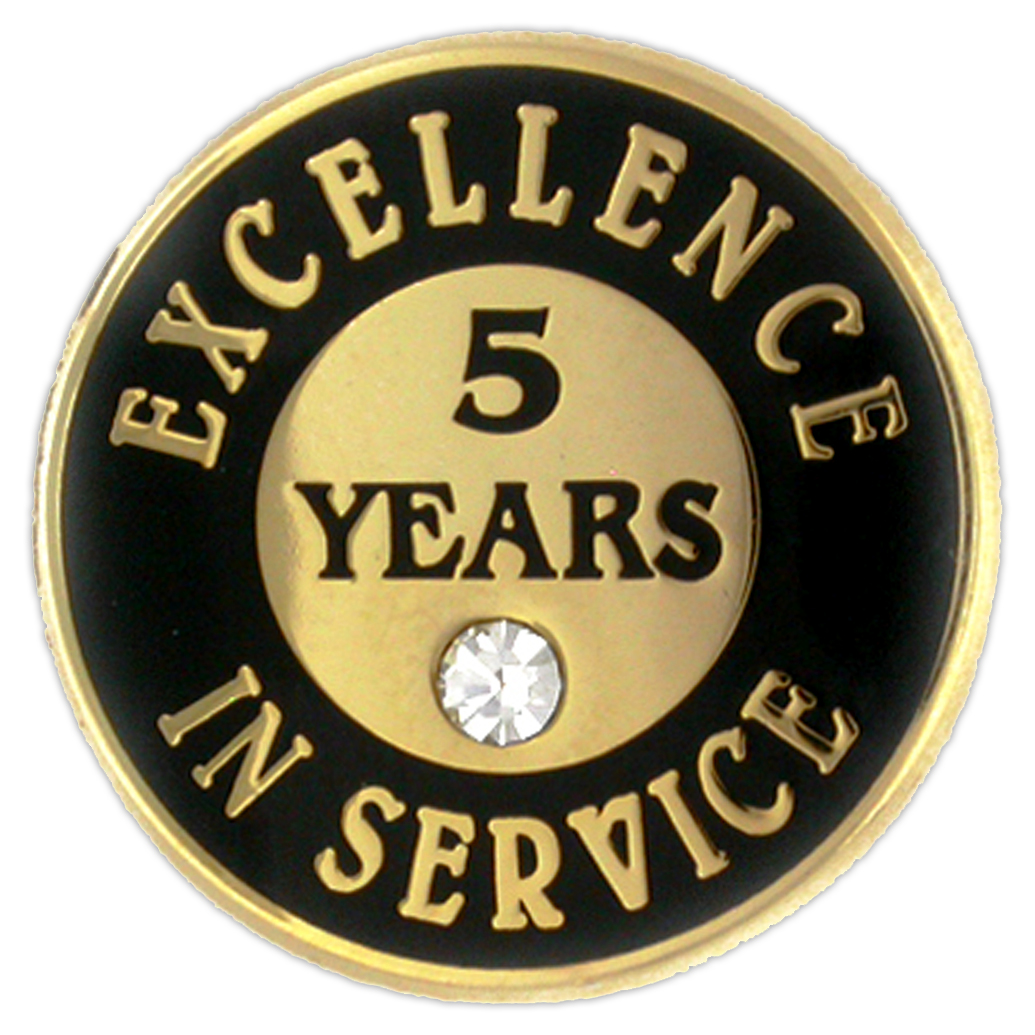 Excellence In Service Pin - 5 Years