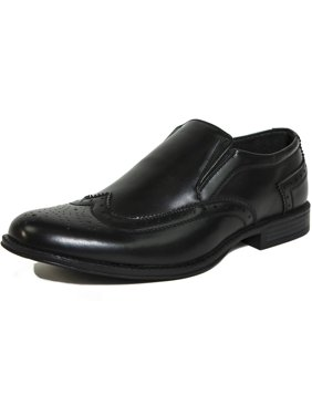 ce4610afb Product Image Alpine Swiss Basel Mens Wing Tip Dress Shoes Brogue Medallion  Slip On Loafers