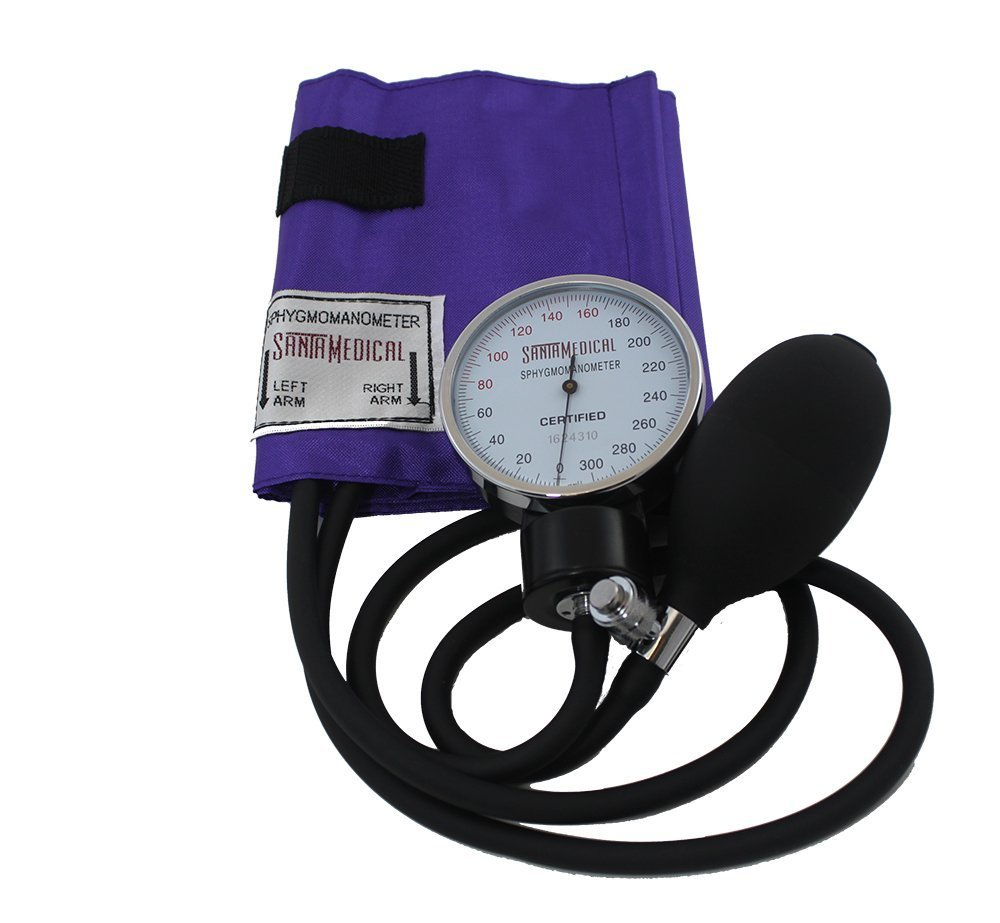 Santamedical Adult Deluxe Aneroid Sphygmomanometer with Stethoscope