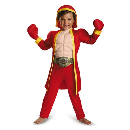 Halloween Costumes Boxer (Little Fighter Boys Boxer Muscle Halloween Costume -)