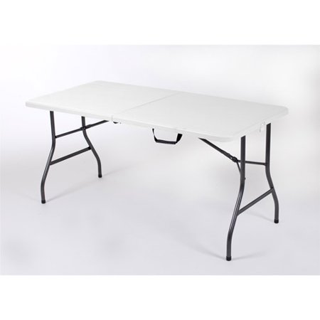 - Mainstays 5 Foot Centerfold Folding Table, White