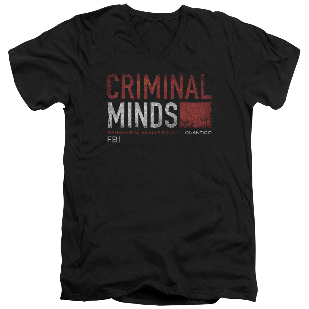 Criminal Minds Title Card Mens V-Neck Shirt