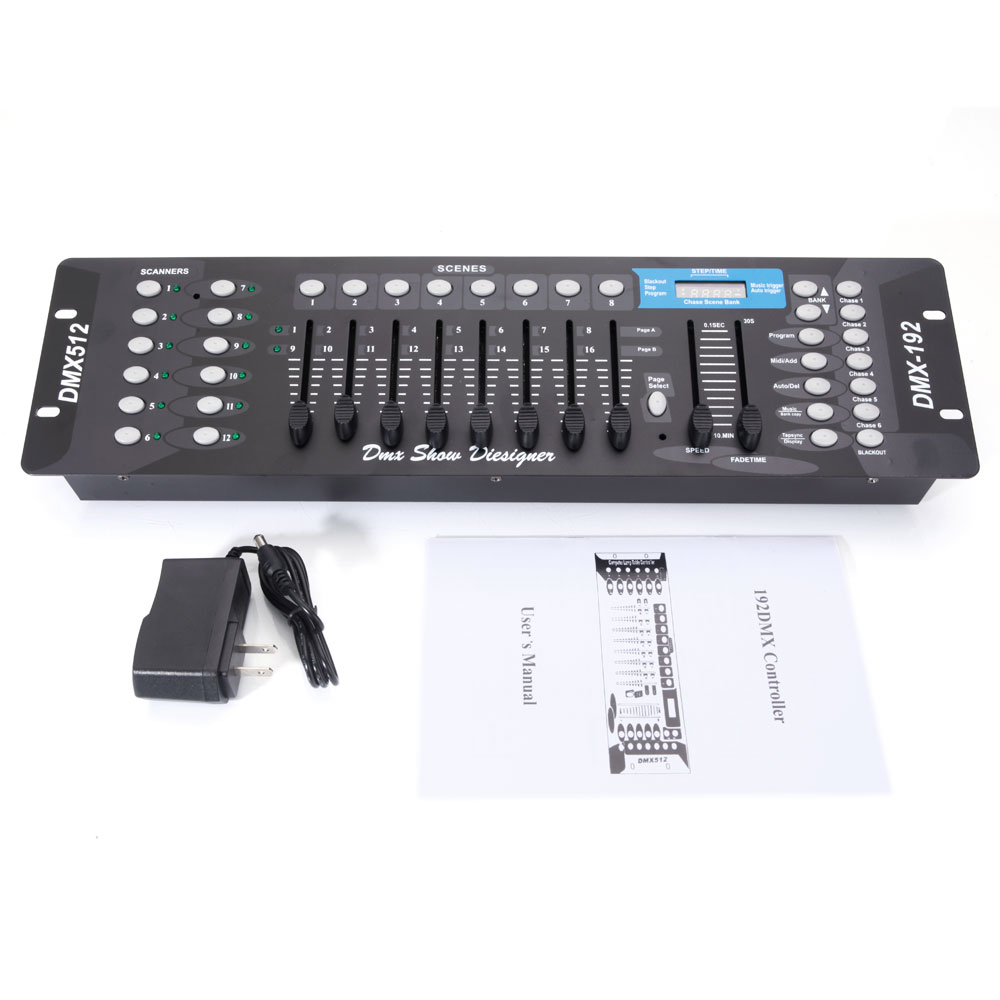 Zimtown DMX 512 192 Channel Operator Console Controller for Stage DJ Party Lighting Lamp