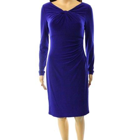 8e2df5a86ce Lauren Ralph Lauren - Lauren Ralph Lauren NEW Blue Navy Women s Size 18  Plus Sheath Dress - Walmart.com