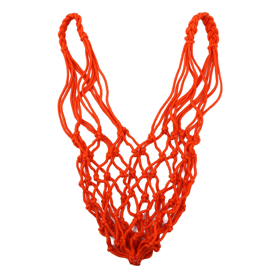 Athletics 12 Loops Braided String Knotted Training Match Basketball Net Orange