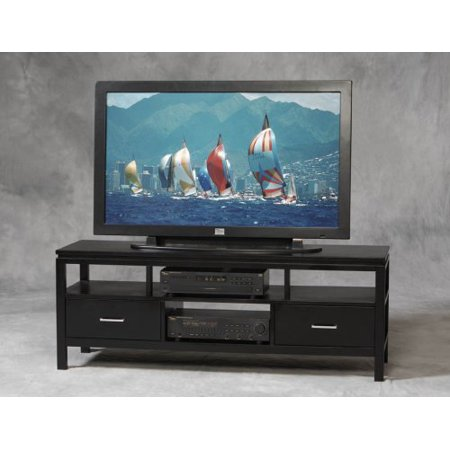 Linon Sutton Black Plasma TV Center