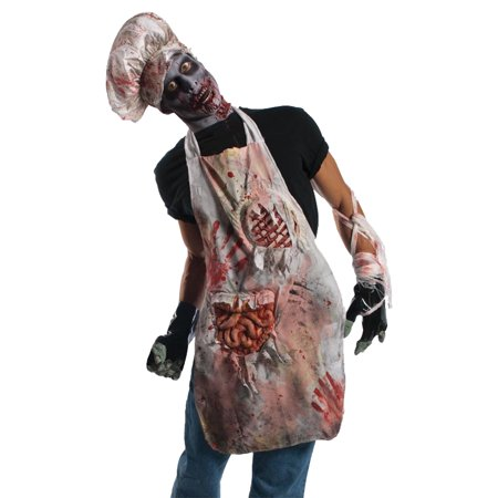 Zombie Butcher Adult Halloween Apron - Simple Halloween Makeup Zombie