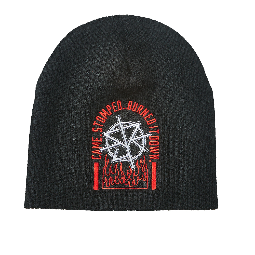 Official Wwe Authentic Seth Rollins Knit Beanie Hat Black