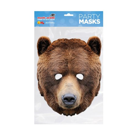 Bear Facemask – Costume Accessory](Mens Care Bear Costume)