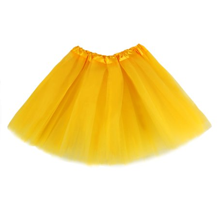 The Elixir Kids Girl's Dance Tutu Skirts Layer Pettiskirts Ballet Elastic Waist 2 - 8 years, Multi Layers Yellow