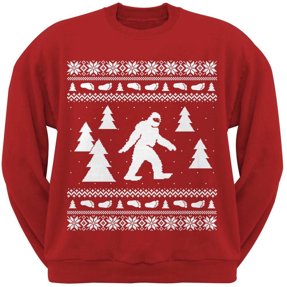 Old Glory Seeing is Believing Alien Santa Blue Adult Crew Neck Sweatshirt