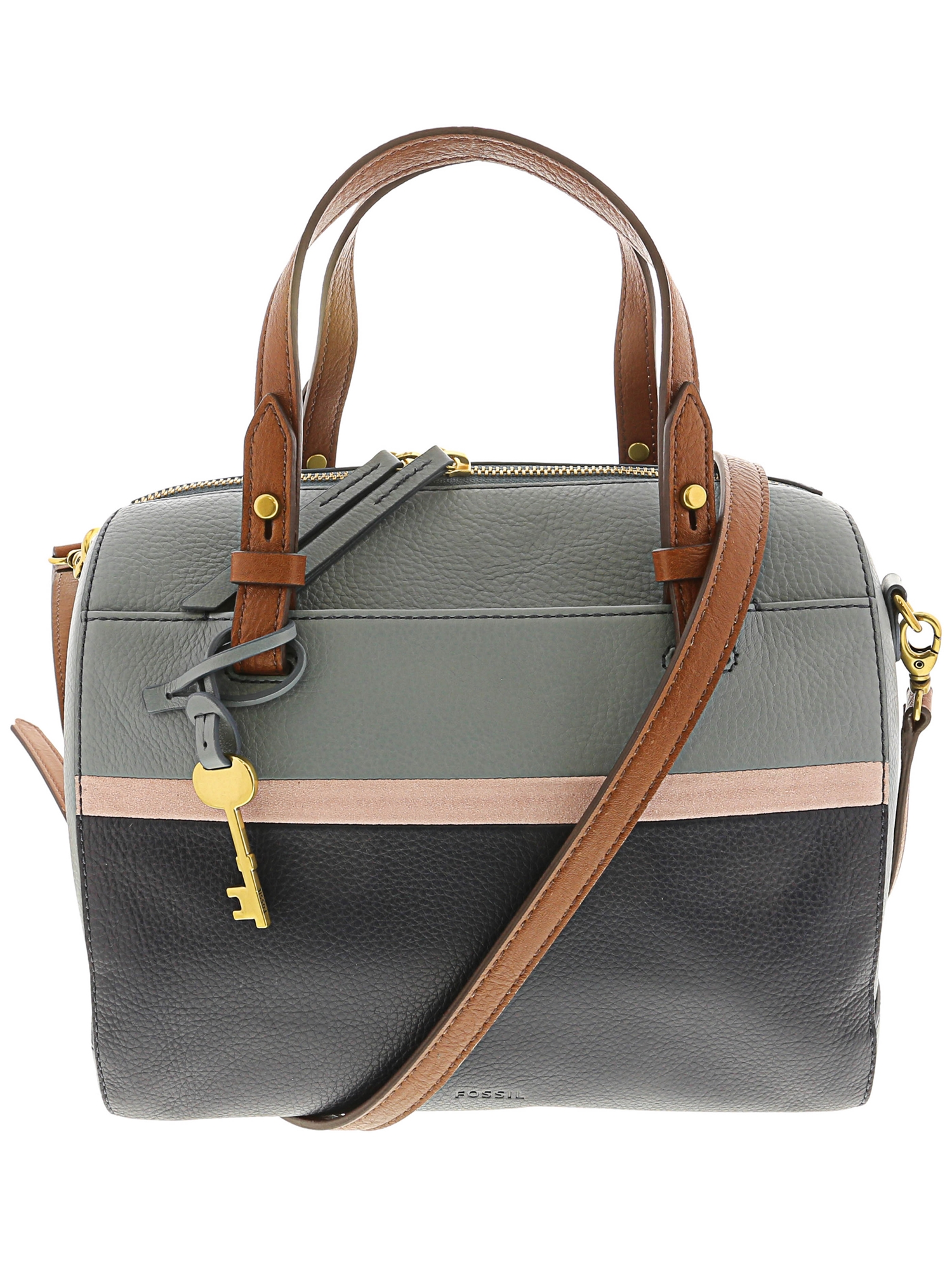 848a57fdd Fossil - Fossil Women's Rachel Leather Top-Handle Bag Satchel - Black -  Walmart.com