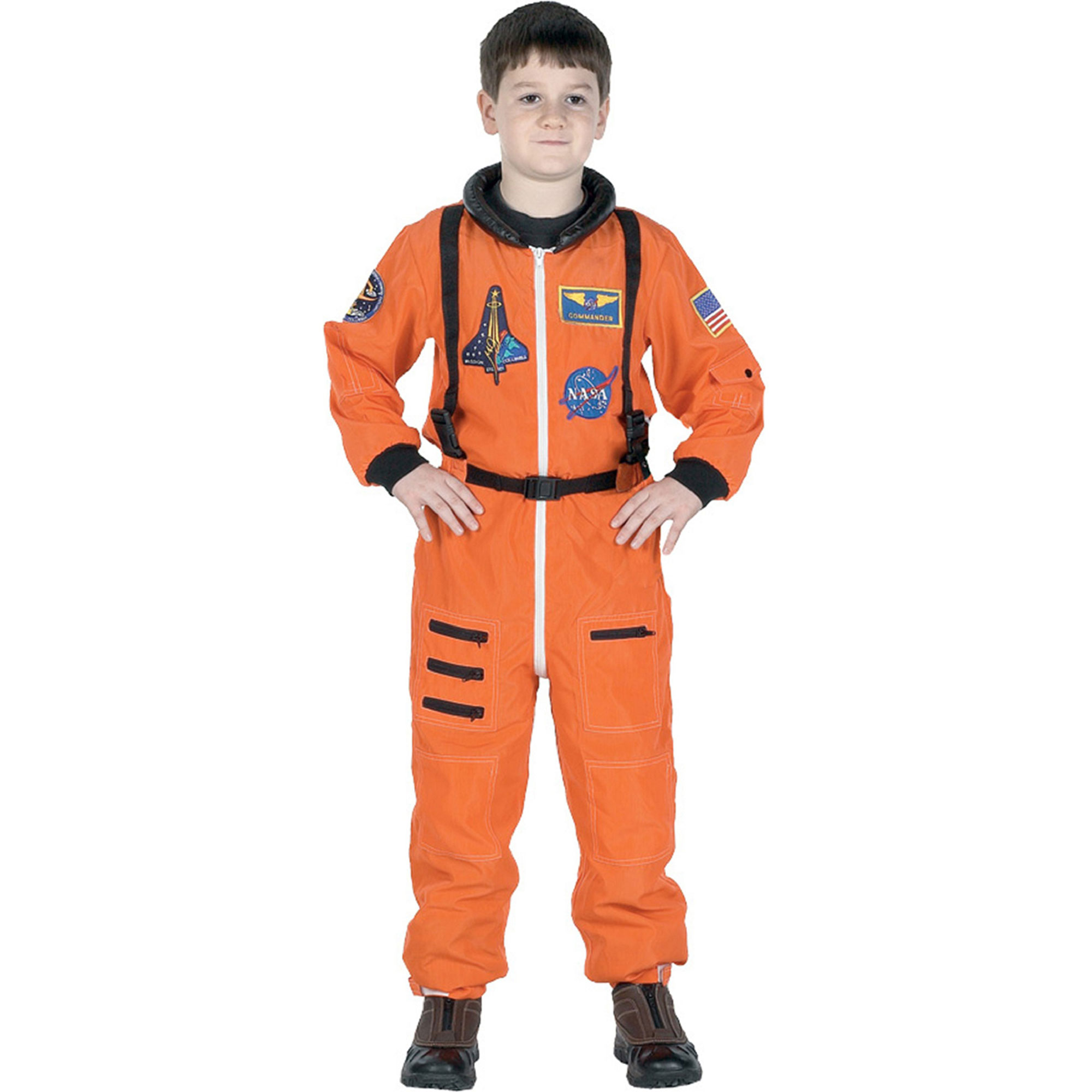 Morris Costumes Boys Orange Astronaut Suit Child Halloween Costume Large 8-10, Style, AR52MD