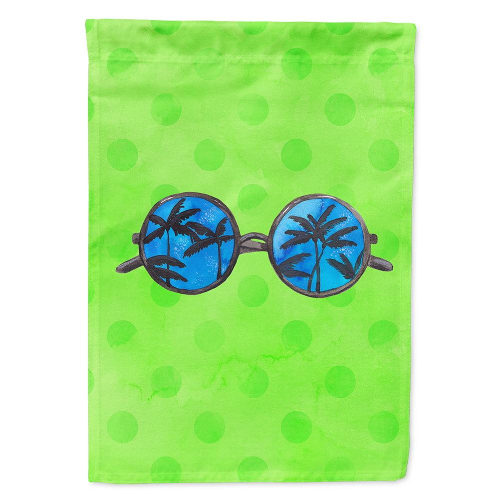 Sunglasses Green Polkadot Flag Canvas House Size