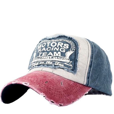 Blue Football Helmet (Women Embroidered Flower Denim Cap Fashion Baseball Cap)