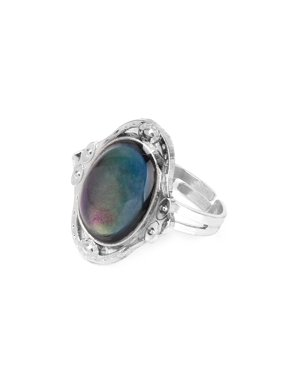 Gypsy Boho Adjustable Oval Color Change Mood Ring Emotion Feeling Changeable Ring
