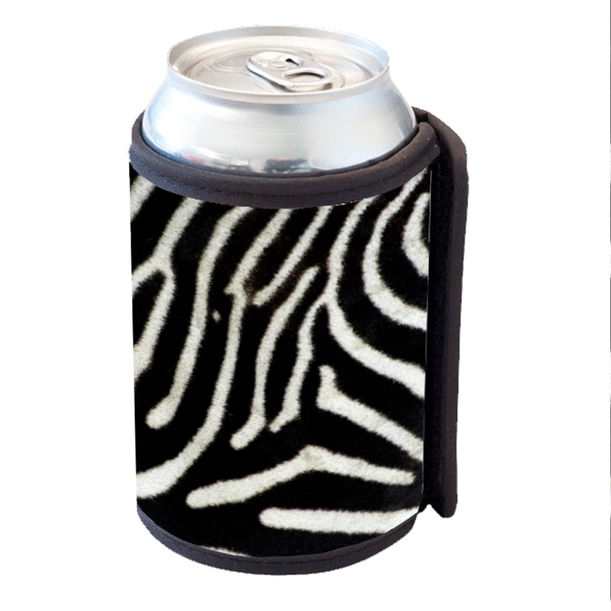 KuzmarK Insulated Drink Can Cooler Hugger - Zebra
