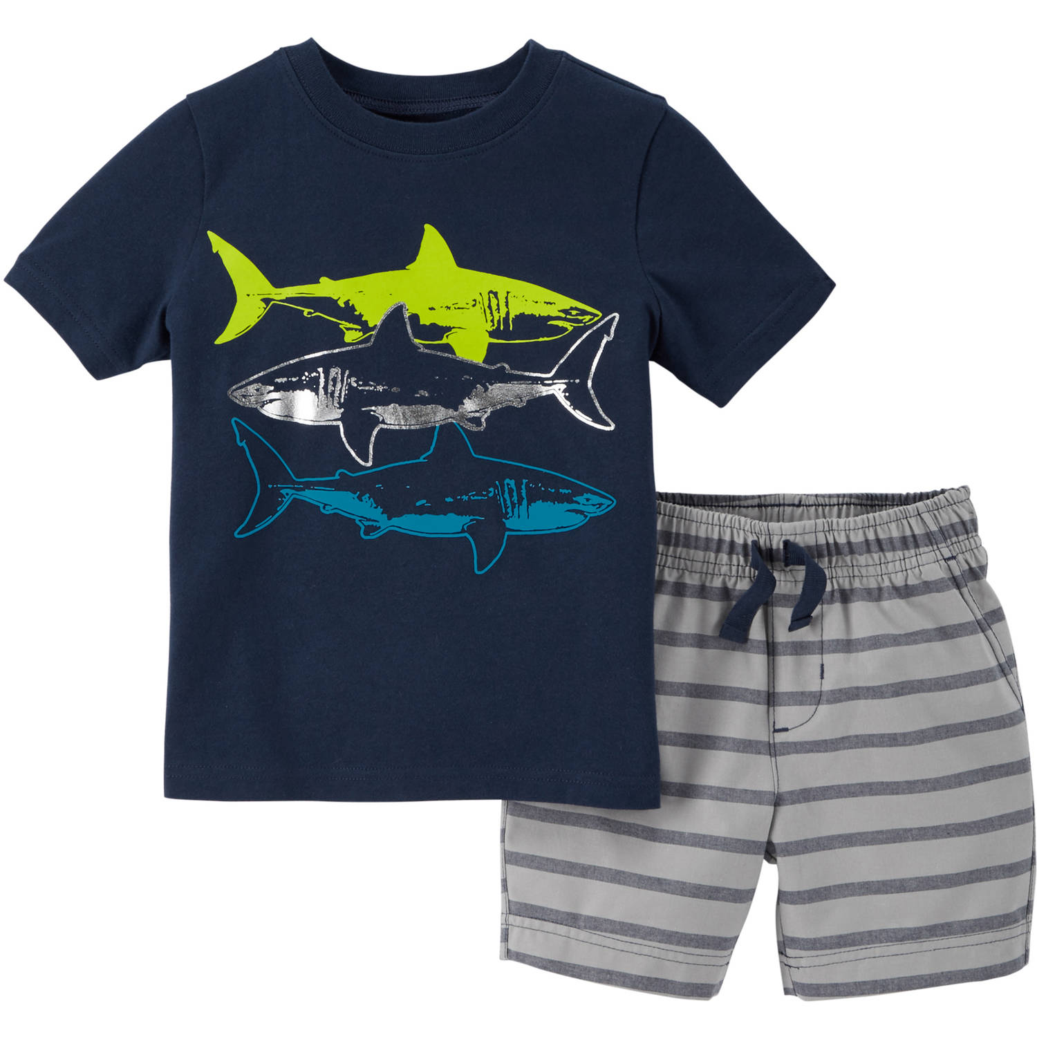 Child of Mine by Carter's Baby Toddler Boy Graphic Shirt and Short Outfit Set 2 Pieces