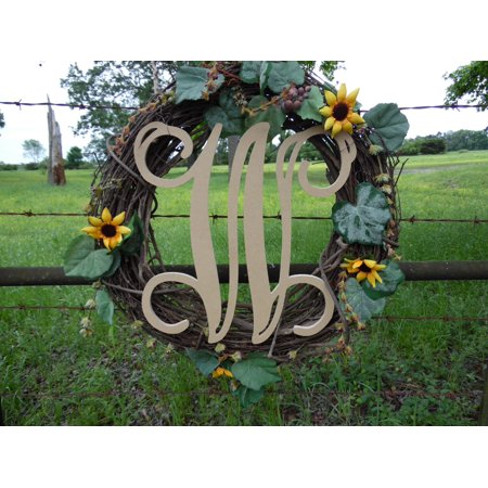 Wooden Letter Vine (W) Unfinished Wood Craft Letter, Paintable Wall Decor (Vine Halloween Letter)