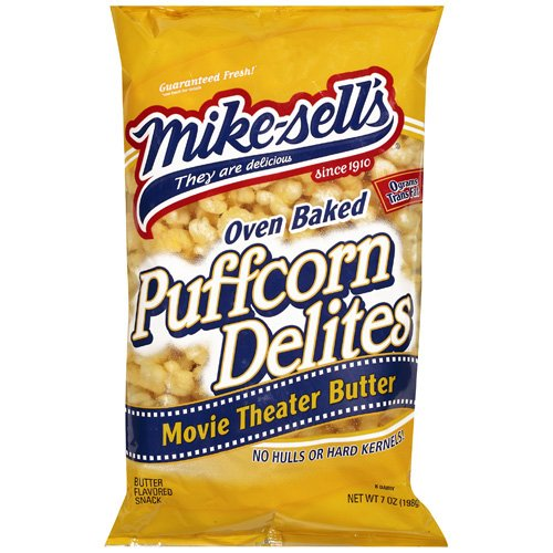 Mike-Sell¬タルs Puffcorn Delites With Movie Theater Butter, 7 oz